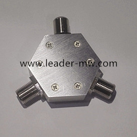 75omh F Connectors  Fre:DC-3G 2way power divider